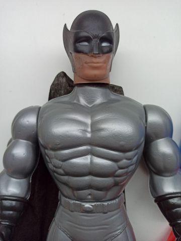 Bonecos X Neon Cyber Black Man Super Heros 41cm Plástico - Foto 2