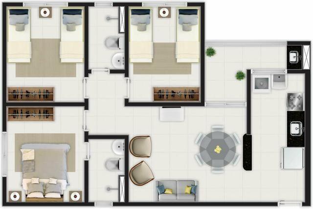 (BBA) Apartamento 2 ou 3 quartos, BEM LOCALIZADO no Turu - Foto 4