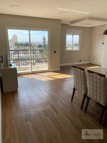 Apartamento com 2 dormitórios para alugar, 69 m² por R$ 2.400,00/mês - Jardim Chapadão - C - Foto 3