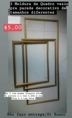 1 Jogo de 3 Molduras de Quadro de parede douradas decorativas - Foto 2