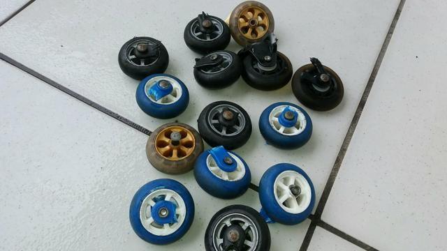 7 pares de roda de silicone