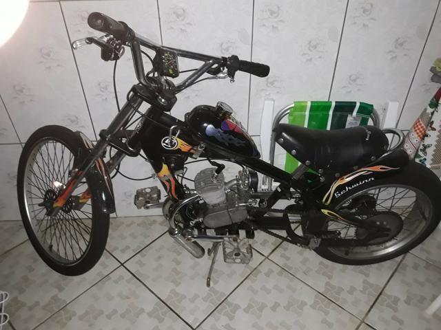 Bicicleta chopper motorizada R$1300 - Foto 4