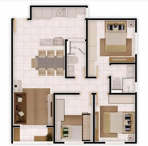 Apartamento 3 quartos com 1 suite. - Foto 2
