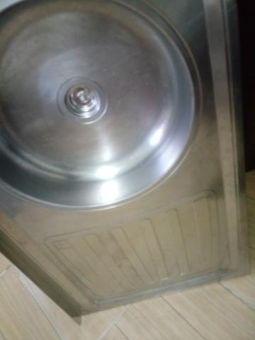 Pia inox 1,20, cuba central com escorredor - Foto 2
