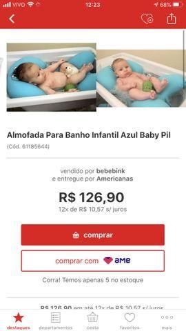 Almofada para banho baby pil Azul - Foto 3