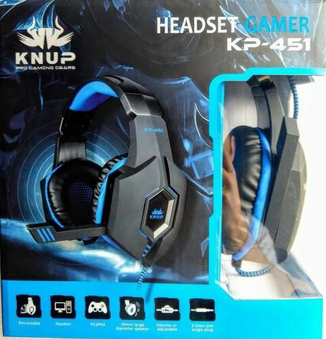 Headset Gamer Knup Kp-451 Fone Celular Xbox One Ps4 P2 - Foto 2