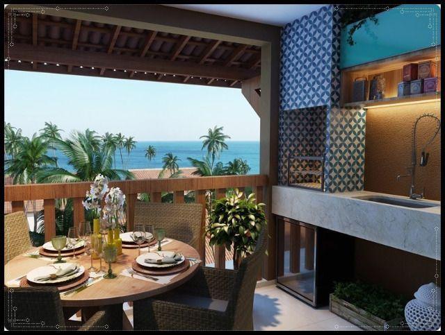 GN- Casa duplex na praia do Cupe, 4 quartos, piscina privativa, varanda gourmet - Foto 8