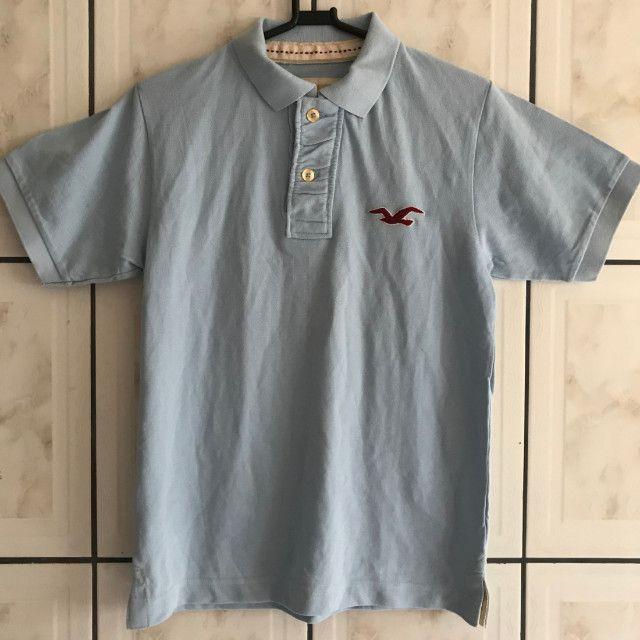 Camisa Polo Hollister Masculino Azul Original Nova. (Somente no Tamanho: P)