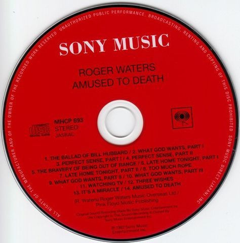 Roger Waters - Amused To Death - Foto 3