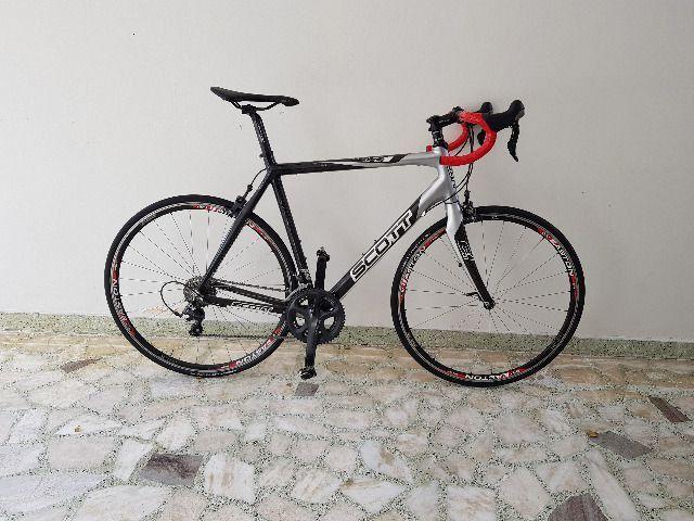 Bike Scott Speed Road Scott CR1 Pro Full Carbon tam 58 - perfeita - AC troca por mtb 29 - Foto 2