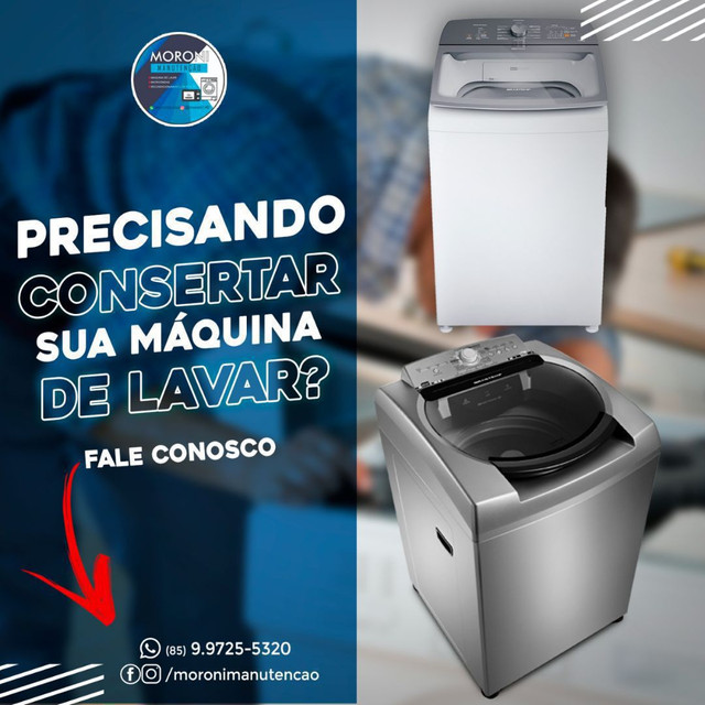 Moroni manutenções em lavadora