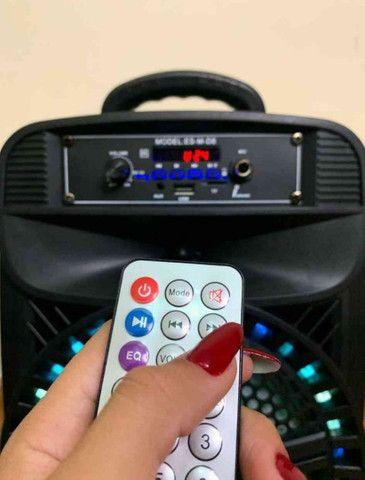 Caixa de Som 2000W Feiyipu Bluetooth Microfone e Controle! - Foto 5