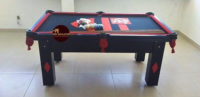 Sinuca Flamengo Multi Uso Ping Pong 2 Em 1 - Foto 4