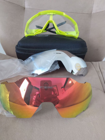 Kit óculos de pedal TSW com proteção UV 400