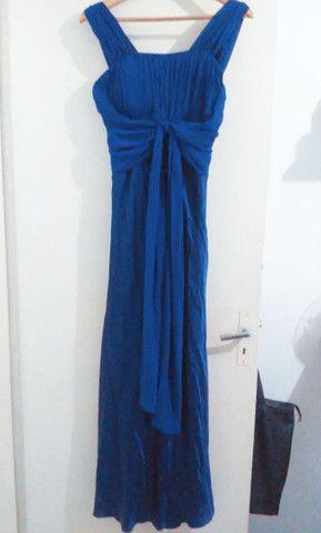 Vestido longo de festa azul  - Foto 3