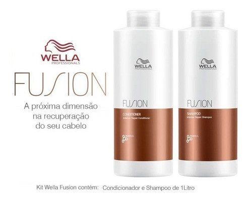 Wella Fusion Kit Shampoo E Condicionador 1 Litro Original