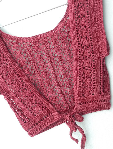 Cropped em crochê - Foto 3