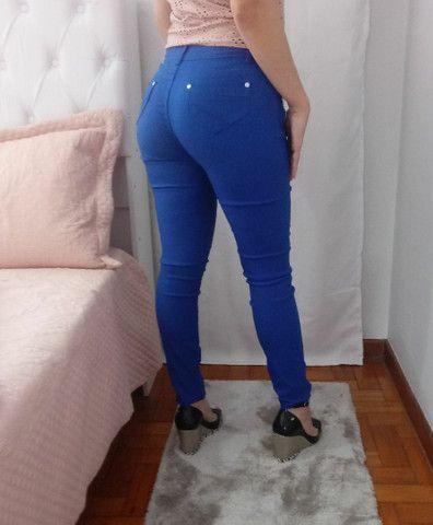 Calça feminina azul número 40 - Foto 5