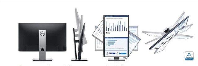 Monitor Dell Led 27 FullHd NFe Lacrado Ips Hdmi Ajuste Altura Rotacao 85.70-62.79 - Foto 2