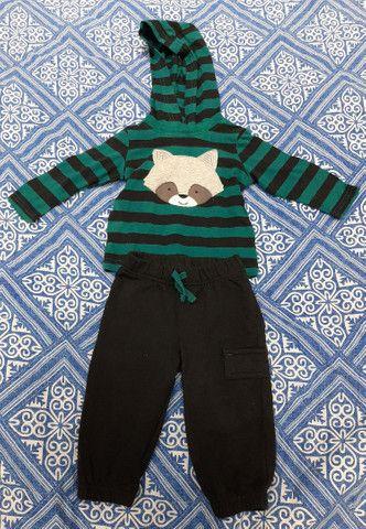 Lote Roupa Bebê Inverno Calça Manga Longa Carters CeA - Tamanho 3 a 6 meses - 6 peças - Foto 2