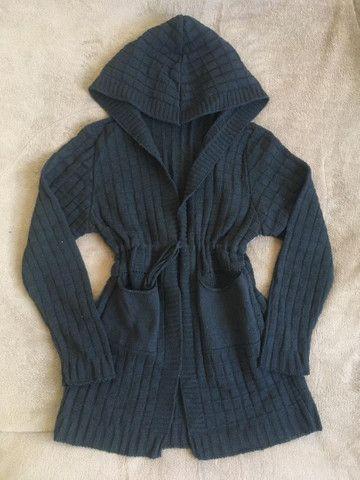 Cardigã preto lãzinha - Foto 2
