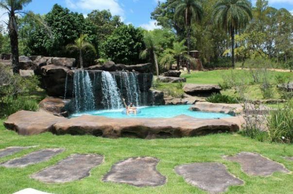s tio c linda piscina cascata esmeraldas andiroba On sitio c piscina