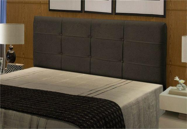 Cabeceira Casal Queen Cama Box 1,60m e 1,40m London Chocolate