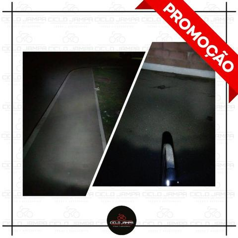 Lanterna Farol Led dianteiro de bicicleta - Foto 2