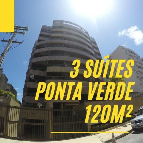 Ponta Verde - 120 M² - 3 Quartos (3 suítes) - Nascente