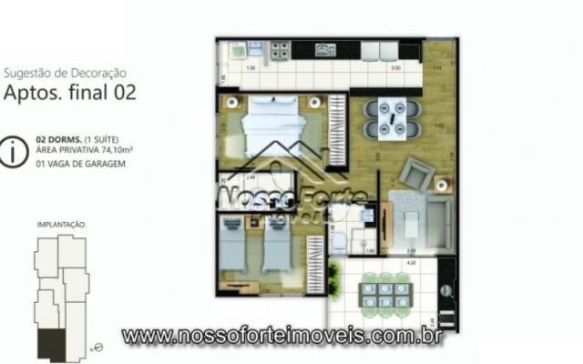 Lançamento Apartamento no Canto do Forte em Praia Grande - Foto 12