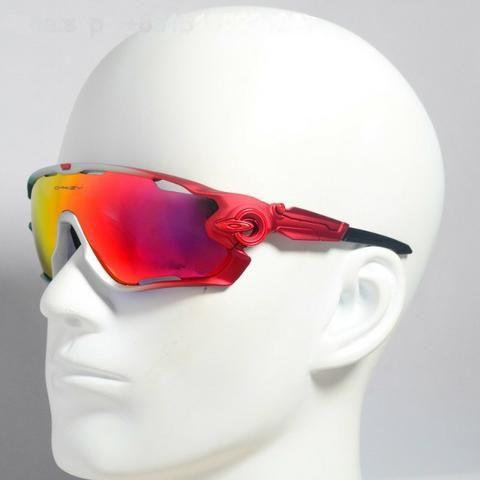 d2bec3753 Óculos Oakley Jawbreaker Para Ciclismo Verde/Vermelho Prizm - Novo e  Importado