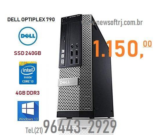 Dell Optiplex 790 Intel Core i3 3aGeração/4Gb/ssd 240gb/windows 7