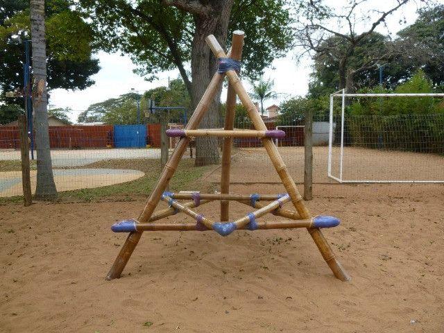 Pirâmide De Bambu Crossfit Yoga Playground - Foto 3