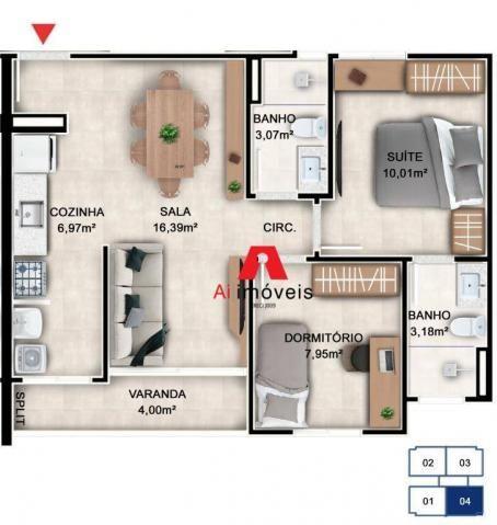 Apartamento residencial à venda, Loteamento Novo Horizonte, Rio Branco. - Foto 2
