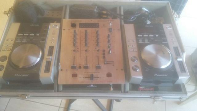 Par de cdj pionner 200 + mixer + case - set completo. **linktr.ee/pimentasonorizacao - Foto 3