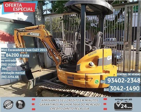 Laranja Mini Escavadeira Case Cx27 2013 R$84200
