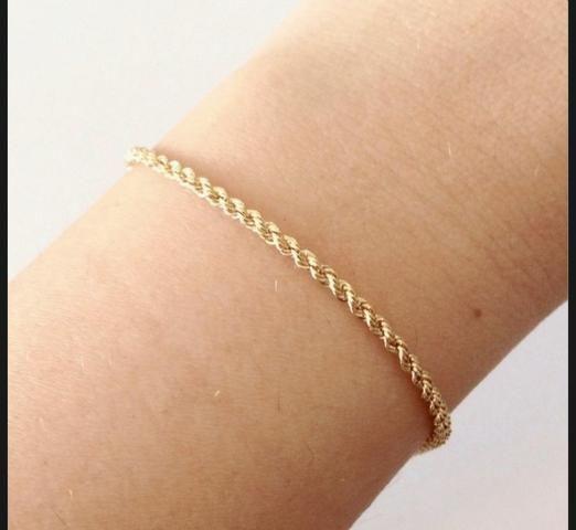 Colar e pulseira ouro 18k - Foto 2