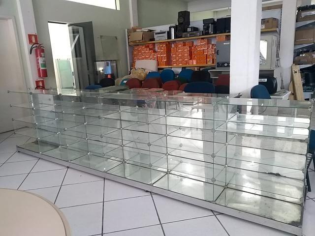 Balcão/Expositor de vidro temperado usado. Ótimas condições - Foto 2