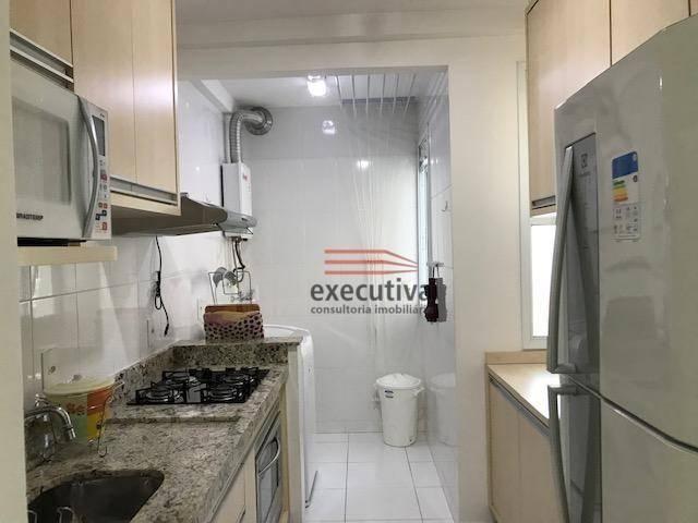 Apartamento com 1 dormitório para alugar, 57 m² por R$ 1.850,00/mês - Jardim das Colinas - - Foto 16