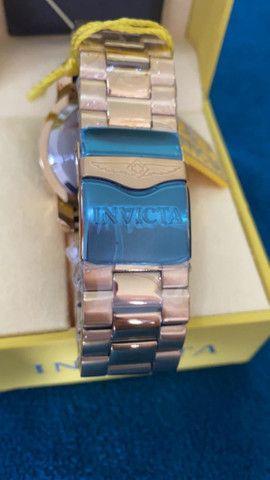 Relógio Invicta Pro Diver Lançamento Dourado a prova d'água - Foto 4
