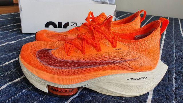Tênis Nike Air Zoom Alphafly Next% original 38 mango - Foto 2