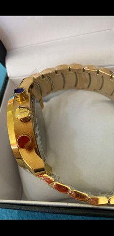 Relógio BVLGARI Coringa Dourado a prova d'água - Foto 2