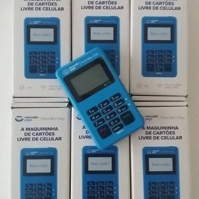 Maquininha de cartão sem mensalidades Point mini - Mercado Pago