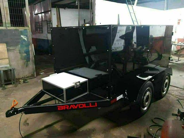 Conheça a BRAVOLLI ' Carretinha 2 eixos transporte com as nossas  - Foto 4