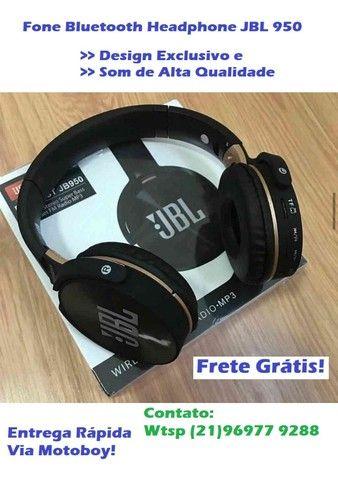Fone MP3 com Rádio fm (JBL 950- Bluetooth) Frete Grátis!
