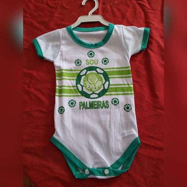 Bodys de Algodão Personalizados Infantis com Elastano! TIME`s - Foto 2