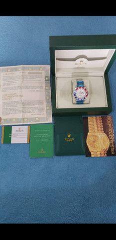 Relógio Rolex GMT Master II Automático Fundo Branco a prova d'água - Foto 6