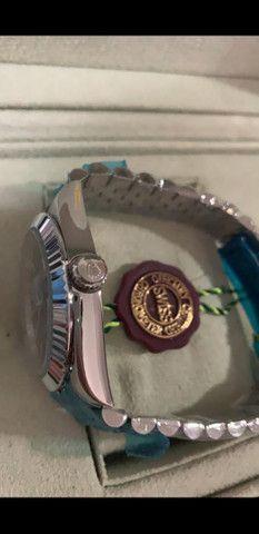 Relógio Rolex Oyster Perpetual Datejust Fundo Azul automático a prova d'água Completo - Foto 3