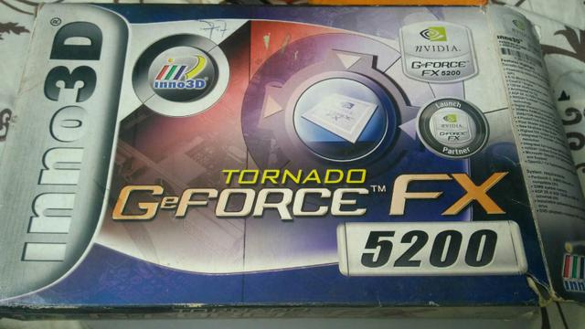 Placa de video geforce fx5200