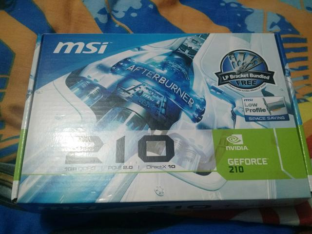 Placa de video Geforce 210 MSI 1GB